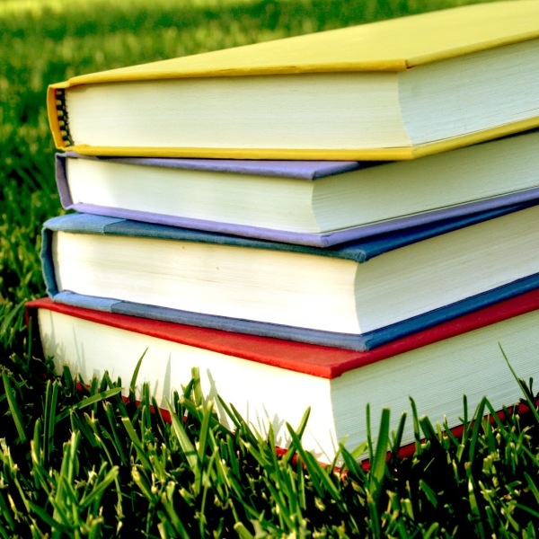 books on grass_161043