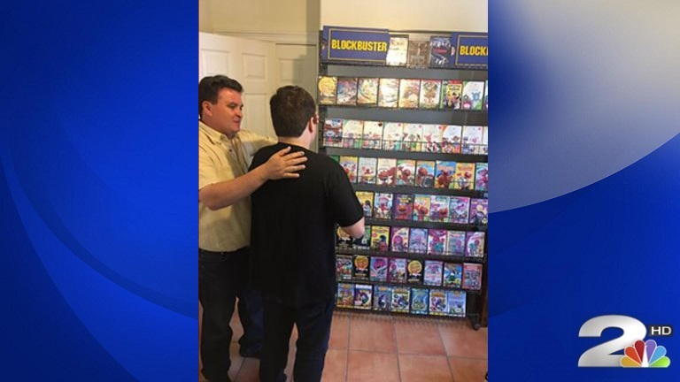 Parents surprise son with autism with personal Blockbuster store_336219