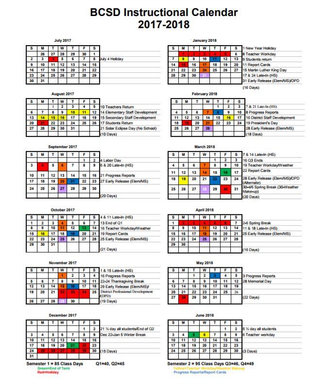 Berkeley Academic Calendar.Back 2 School Berkeley County School District