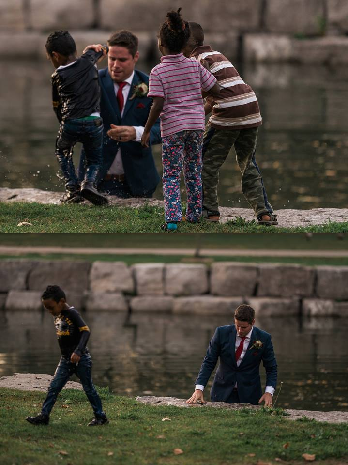 Groom saves drowning boy during wedding photo shoot_417104