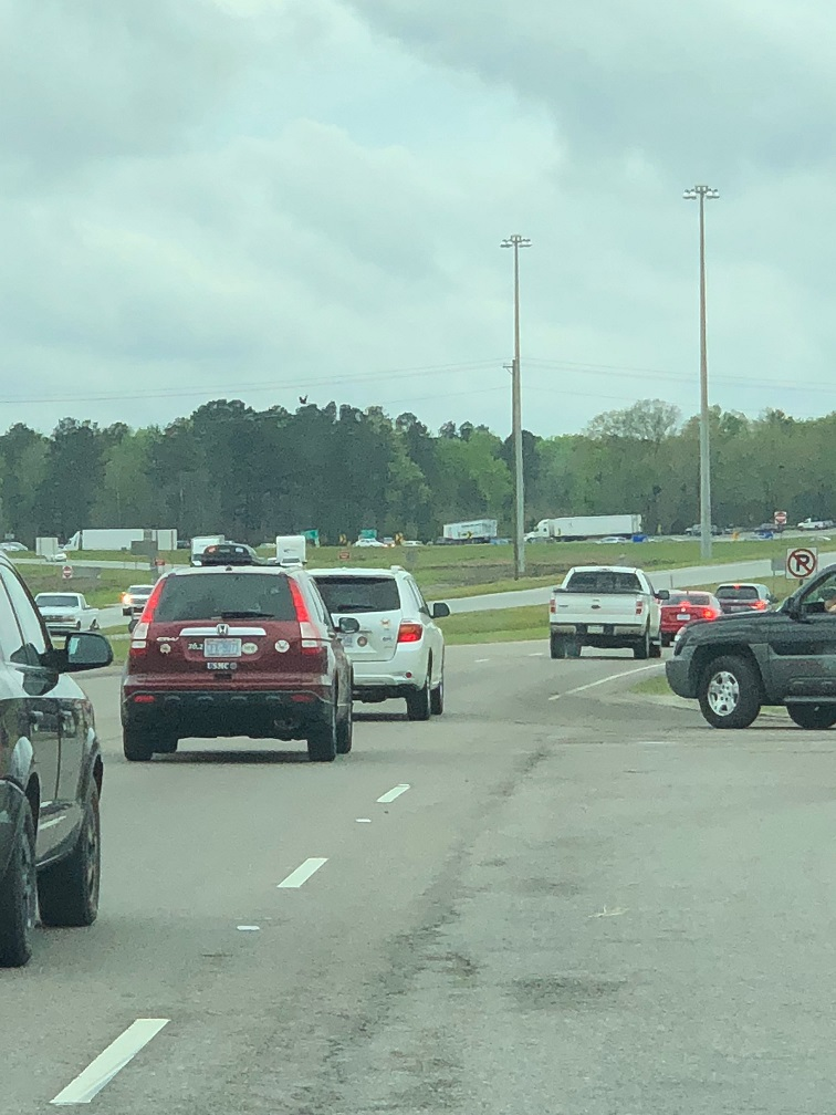 Traffic jam on I-95