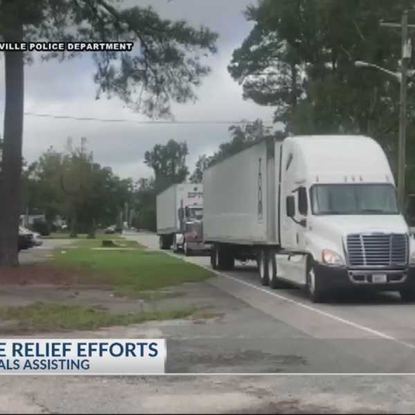 Summerville PD brings supplies to Conway