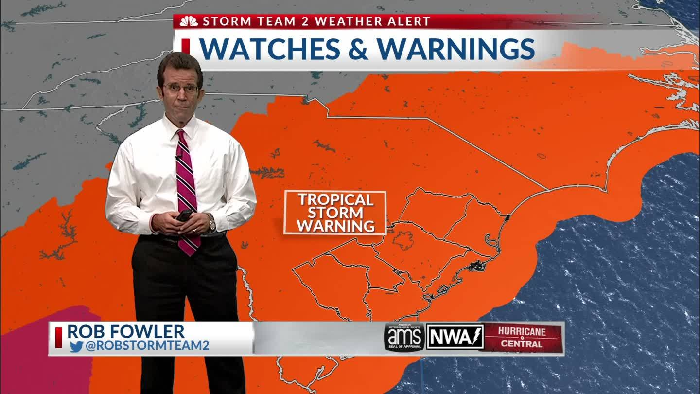 Rob weather hit for Hurricane Michael