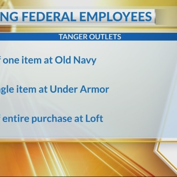 Tanger Outlet offering special deals to shutdown workers