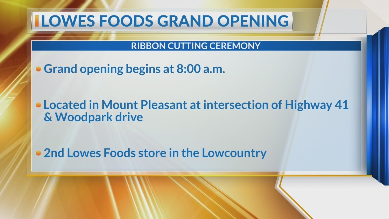 2nd Lowcountry Lowes Food opens Wednesday