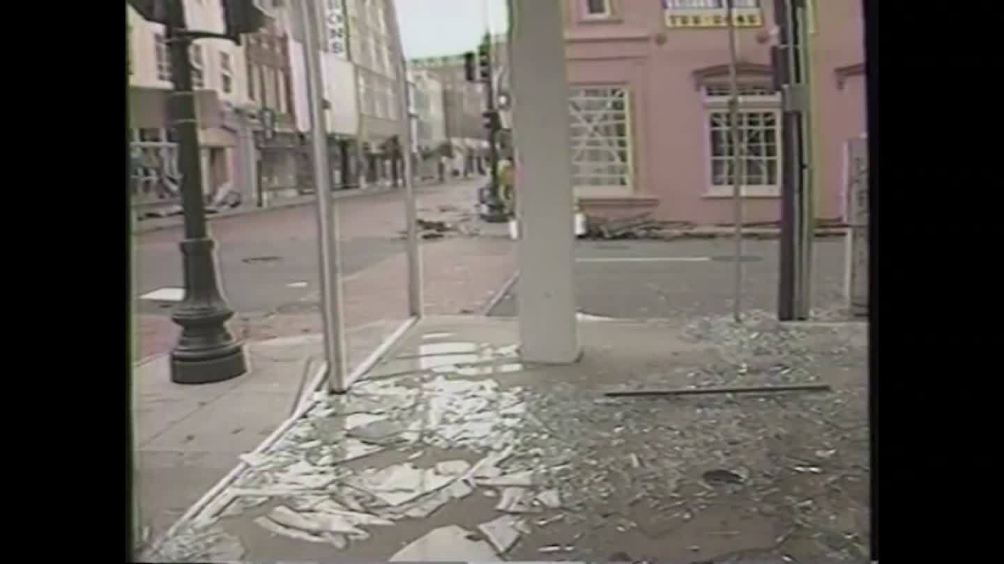 Hugo's destruction in downtown Charleston