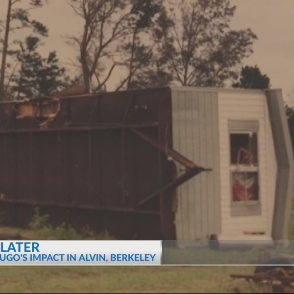 Hurricane Hugo's impact in Alvin, Berkeley County