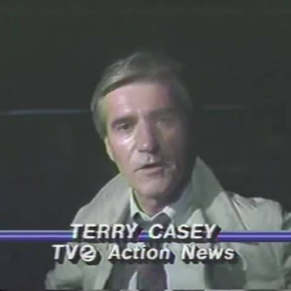 Terry Casey reports during the eye of Hurricane Hugo