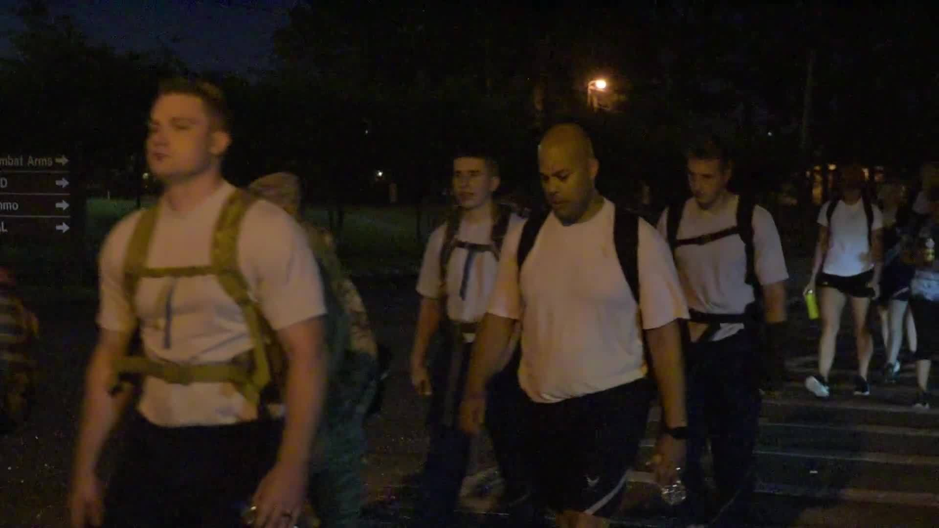 JBC Ruck March in honor of C-130 crash victims