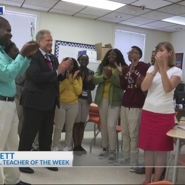 Mr. Ian Barnett receives News 2 Cool School Teacher award