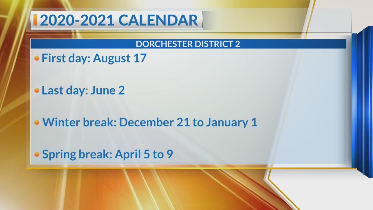 Dorchester District 2 2021-2022 Calendar Dorchester District 2 announces 2020 2021 school calendar | WCBD