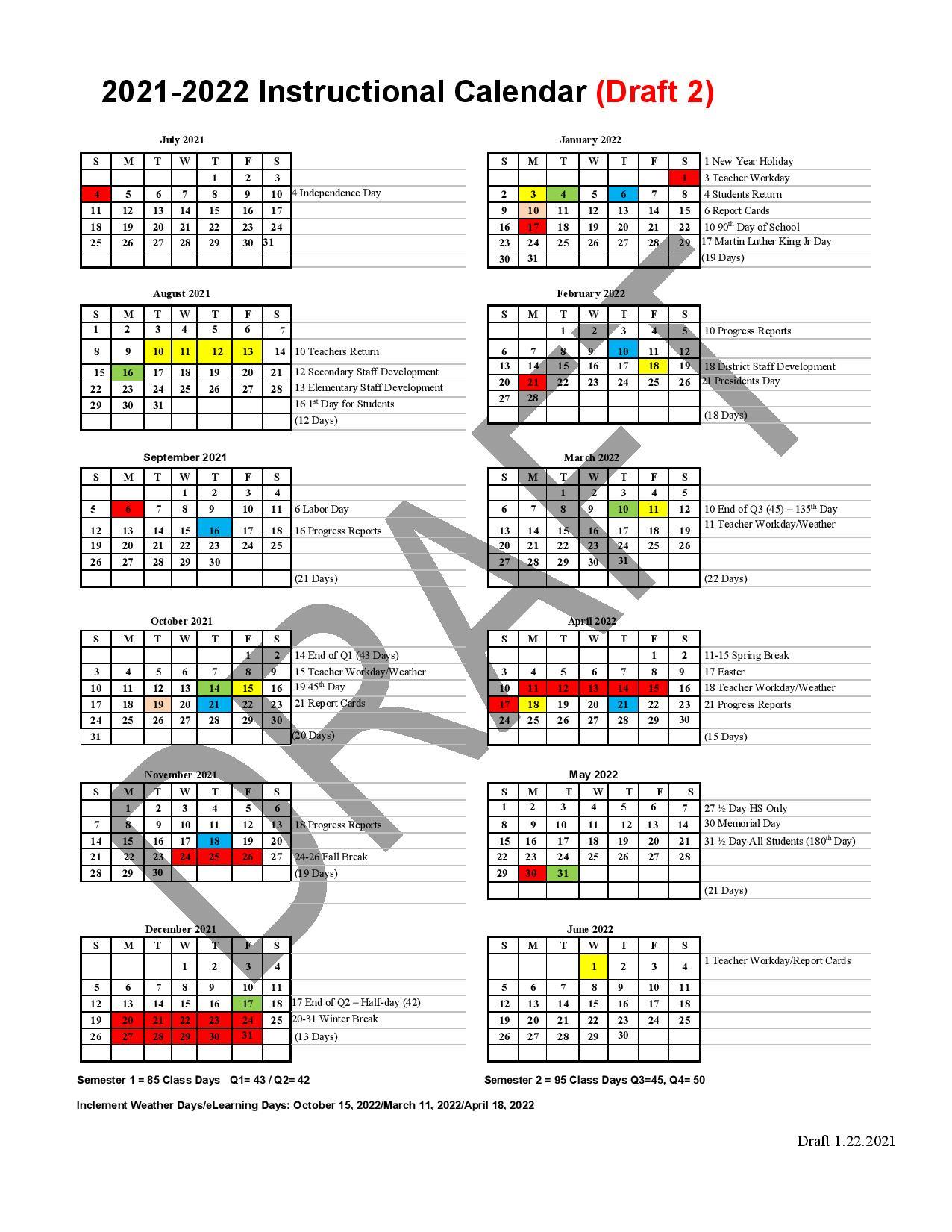 Berkeley 2022 Academic Calendar.Bcsd Considers 2021 22 And 2022 23 Academic Calendars Virtual Option Wcbd News 2